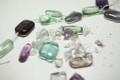 Fluorite Beads Shattered