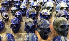 Lapis lazuli skulls.