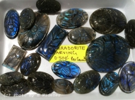 Carved labradorite